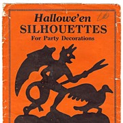 """Envelope of Halloween Silhouettes"" Beistle Company, Diamond mark - USA   1925 – 1930 Very nice Rare"