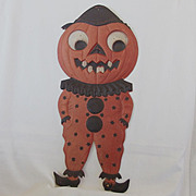 Large Jack O' Lantern Clown heavily embossed die cut – Germany 1920s