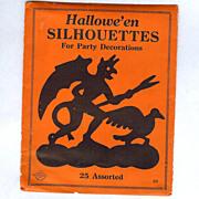"Original Package ""HALLOWEEN SILHOUETTES"" Beistle Company Diamond Mark 1925"