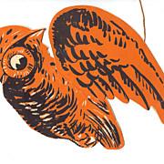 Flying Owl 3-D Halloween decoration – Gibson Art Co. USA 1930s