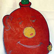 Vintage Beistle early Diecut Halloween Jug Man