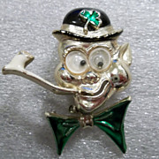 Whimsical Leprechaun - A touch of the green Saint Patrick's Day pin Fun!