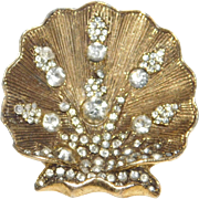 Beautiful vintage Scallop/clam shell pin made by the Schrager Company