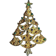 Gerry's Holiday Christmas Tree Brooch Pin Nice!