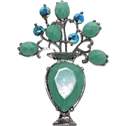 Large jeweled Urn brooch/pin pretty!