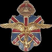 Patriotic British and Ambulance Corps War Relief Dress/Fur clip Pin Silson Company 1940