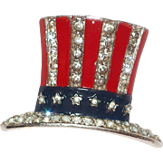 Patriotic Uncle Sam's Hat brooch/pin World War II – Alfred Philippe designer Trifari Company 1940's