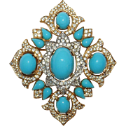 Magnificent Jewels of India Crown Trifari Brooch Designer Alfred Philippe Rare! – Jewels of India Series 1965