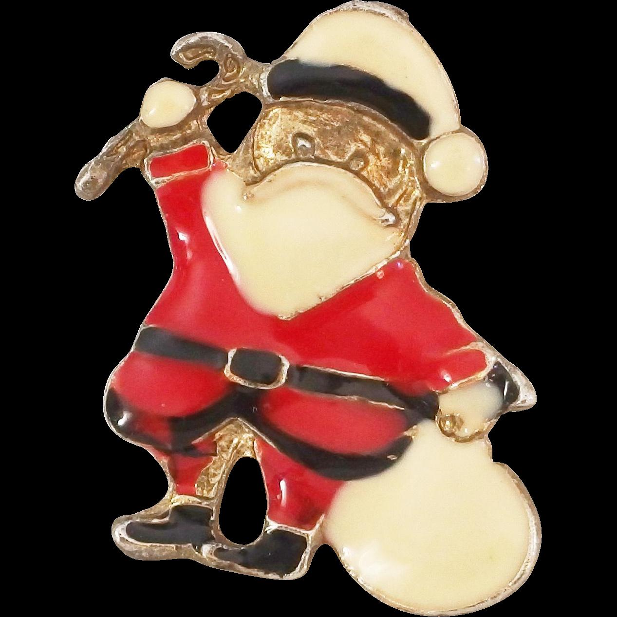 Vintage Santa Pin 10