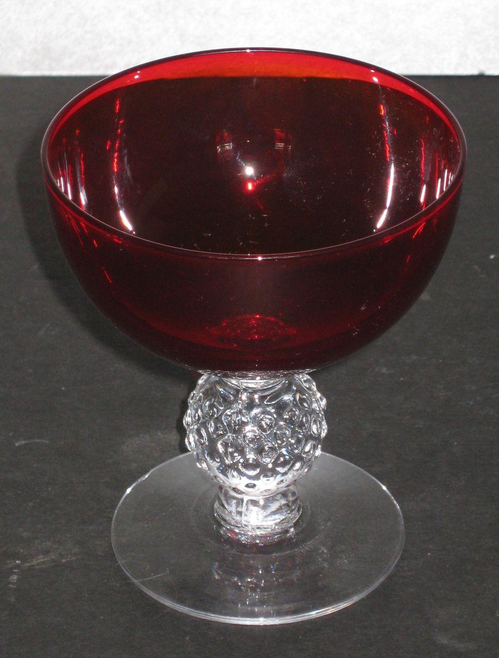 Morgantown Golf Ball Sherbet Spanish Red From