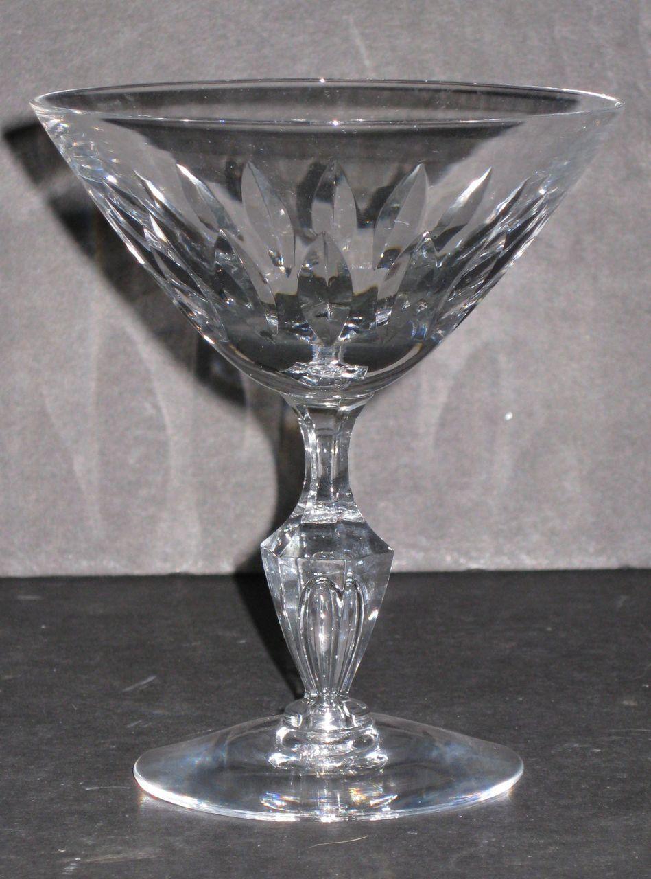 Tiffin Saucer Champagne Glasses, stem 17640, set of 11