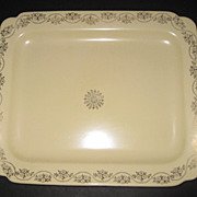 Homer Laughlin Riviera / Ivory Century Platter with Gold Decoration