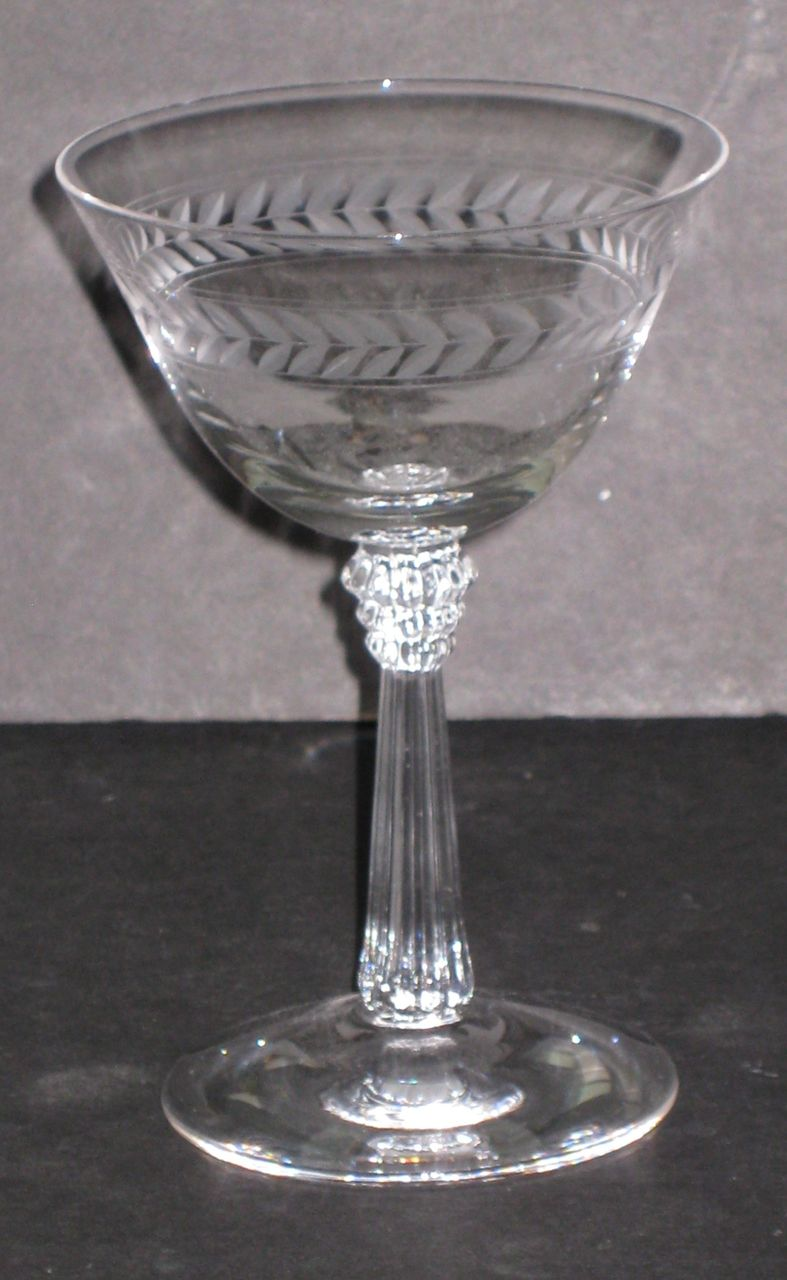 Fostoria Champagne Glasses, set of 9