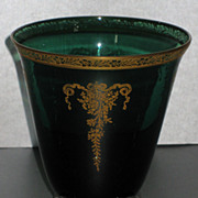 Tiffin Melrose Green Sweet Pea vase