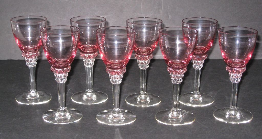 tiffin wisteria and crystal wine glasses set of 8