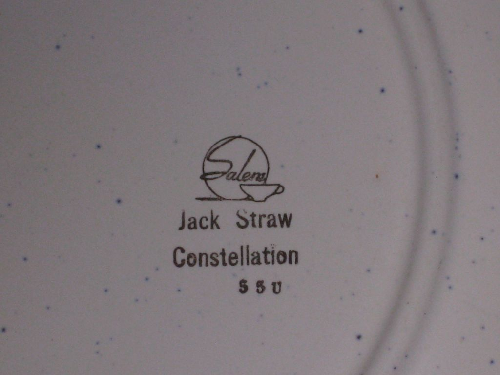 "Jack Straw Constellation 9 3/4"" plates"