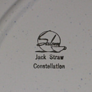 "Jack Straw Constellation 11 ½"" Platter"