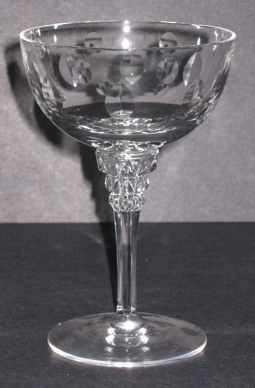 Tiffin 17507 Liquor Cocktail glasses with Buckingham cutting