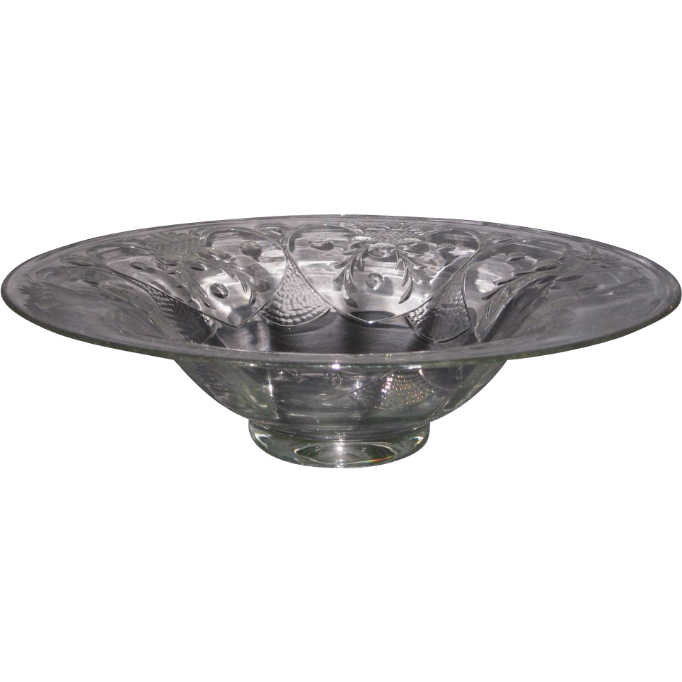 Morgantown Crystal Janice Bowl with cutting