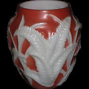 Phoenix Burgundy Fern Vase