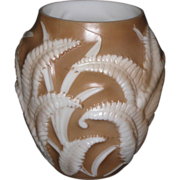 Phoenix Brown Shadow Fern Vase