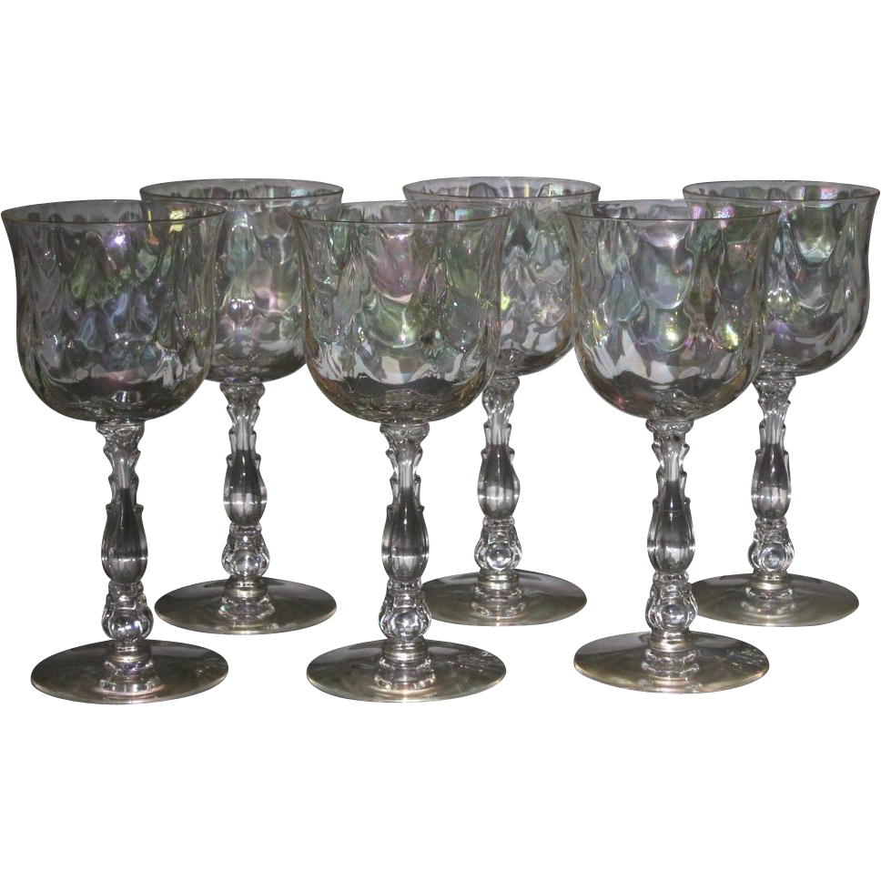 Fostoria Cellini Water Glasses, set of  6