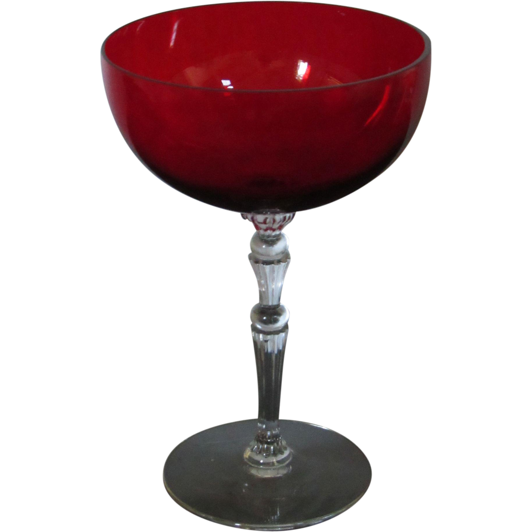 Morgantown Majesty Spanish Red tall champagne glass