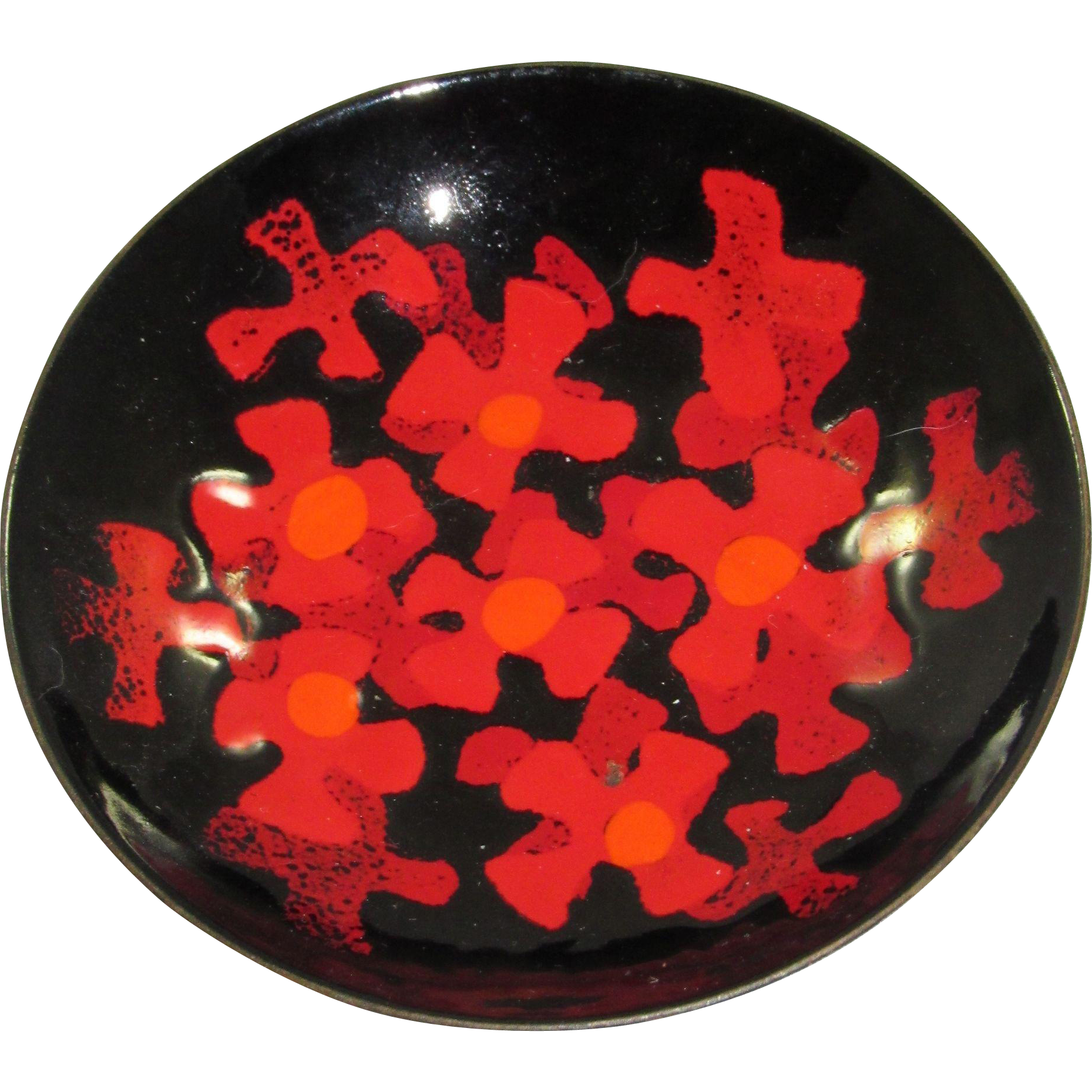 "Bovano 4"" Enamel on Copper Dish"