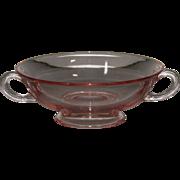 H.C. Fry Glass Rose Cream Soup Bowl
