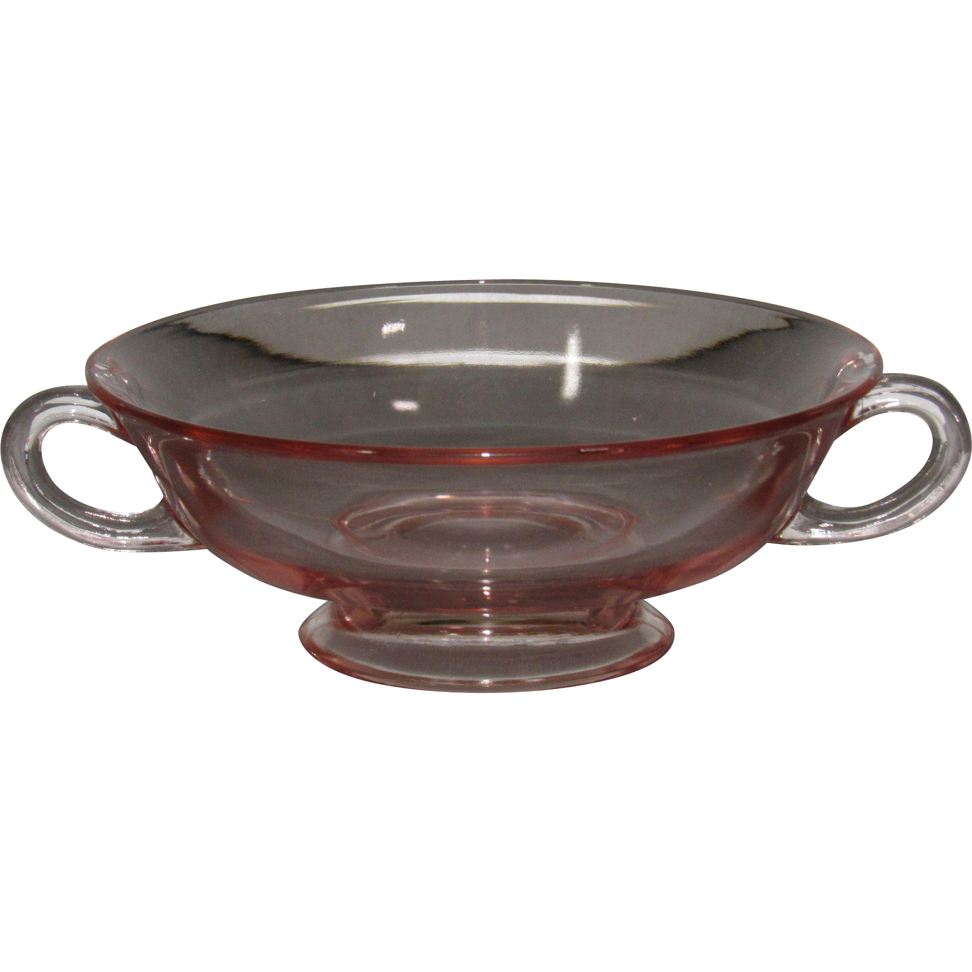 H.C. Fry Glass Rose Cream Soup Bowl