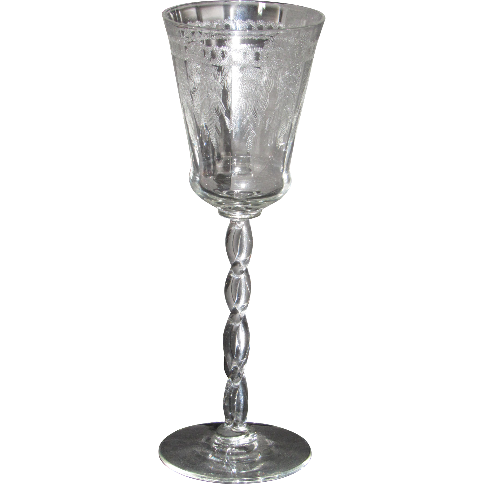 Morgantown Queen Anne Wine Glass