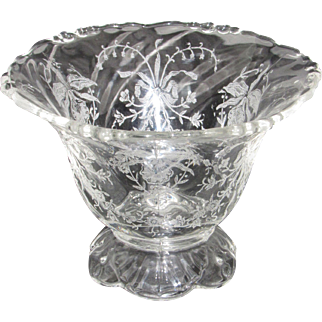 Heisey Empress Mayonnaise Bowl with Orchid Etch