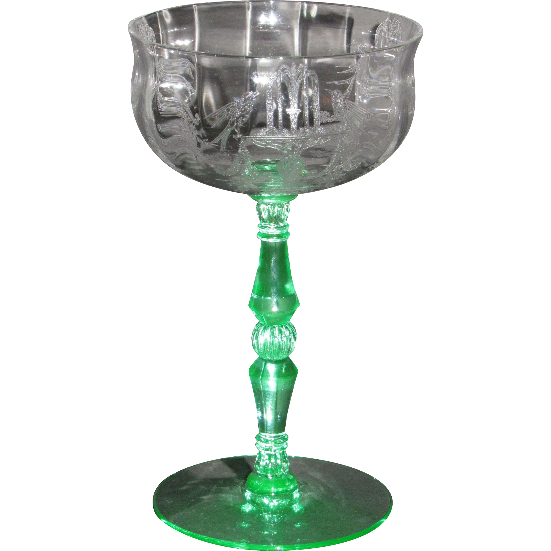 Tiffin Fontaine tall champagne glasses