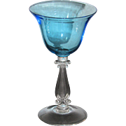 Cambridge Stradivari Cocktail Glass in Tahoe Blue