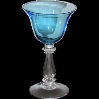 Cambridge Stradivari Cocktail Glass in Tahoe Blue