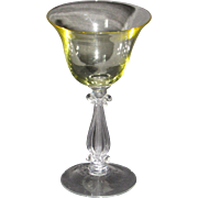 Cambridge Stradivari Cocktail Glass in Gold Krystol
