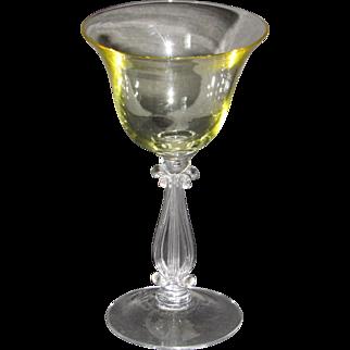 Cambridge Stradivari Cocktail Glass in Gold Krystol