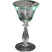 "Cambridge Stradivari Cocktail Glass in unusual ""mint"" green"