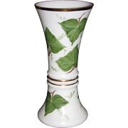 Consolidated Con Cora Tall Stem vase with Ivy decoration