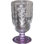 Fostoria 6003 Iced Tea Glass with Wisteria foot and stem