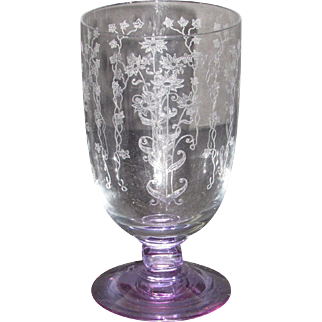 Fostoria 6003 Iced Tea Glass with Wisteria foot and stem