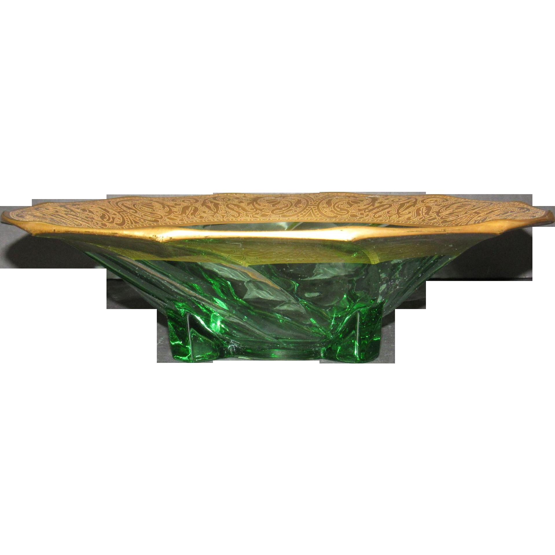 Heisey Moongleam 1252 Swirl Bowl