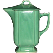 Green Homer Laughlin Riviera Batter Jug with lid