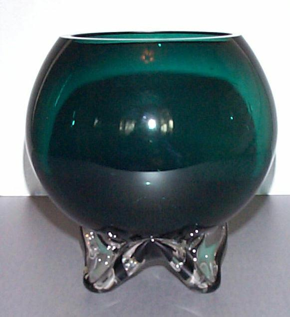 "Tiffin Kilarney Green 6"" Rose Bowl"