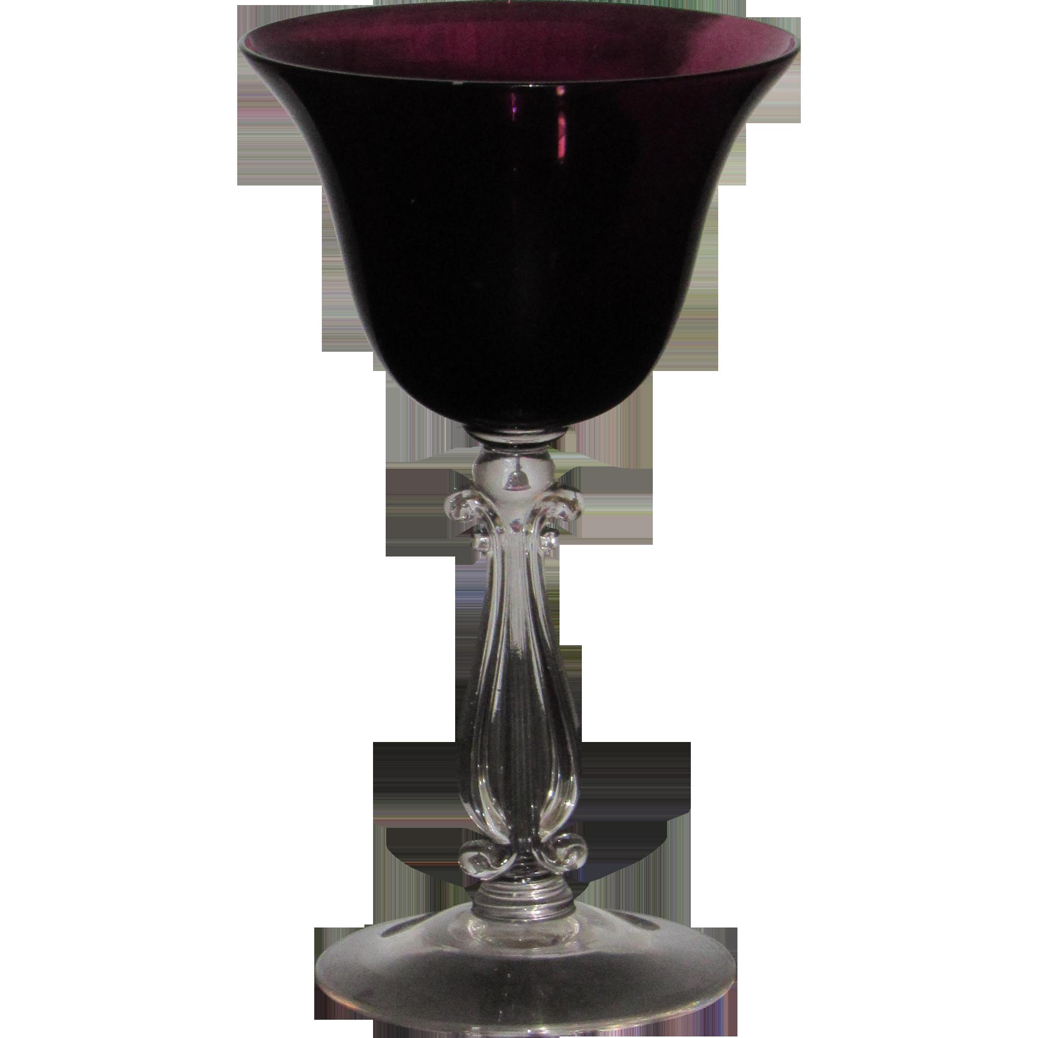 Cambridge Stradivari Cocktail Glass in Amethyst