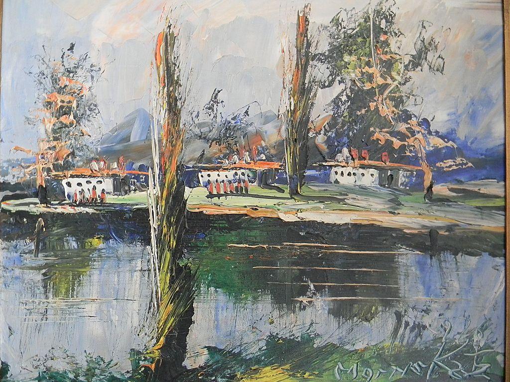 Impressionistic Landscape by listed Artist Morris Katz.