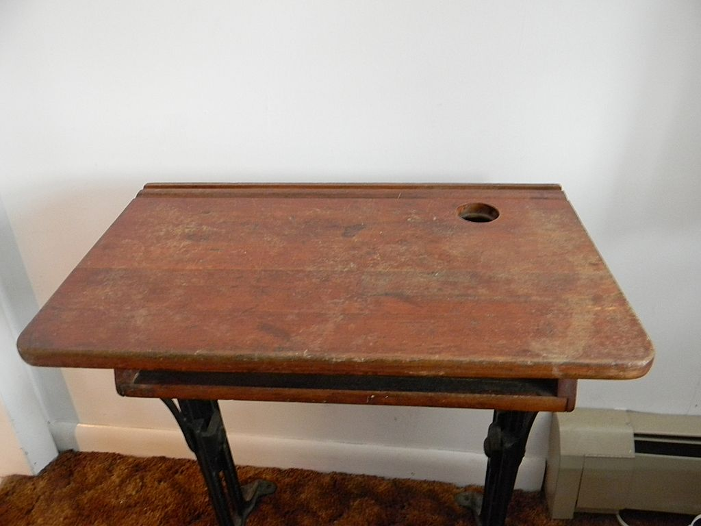 Antique Chandler School Desk ... Small Child Size