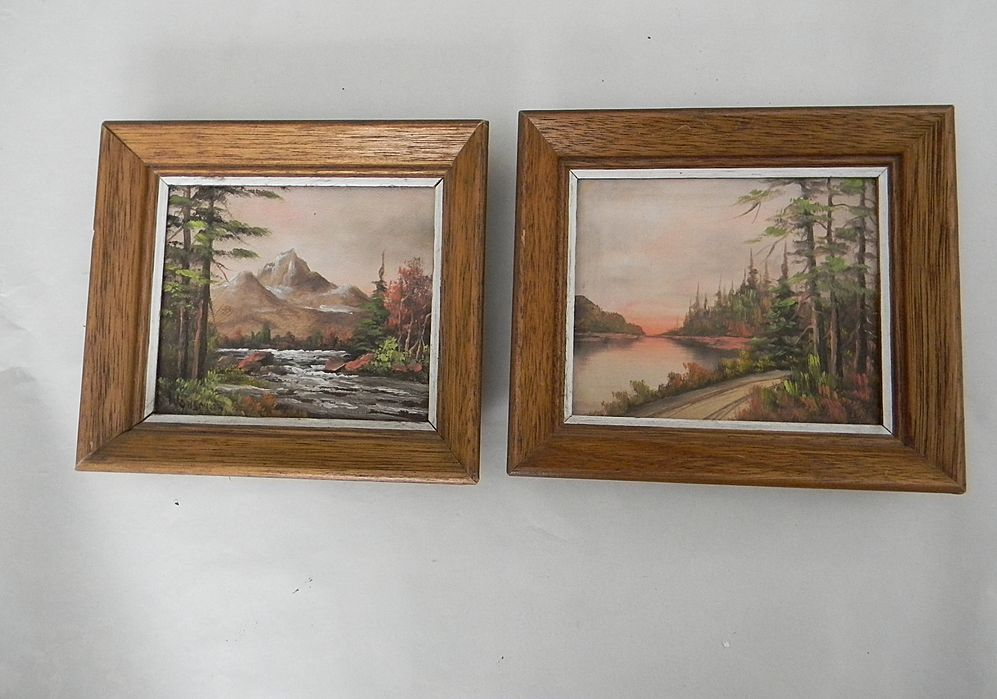 Pair of Small Landscape Oil Paintings.