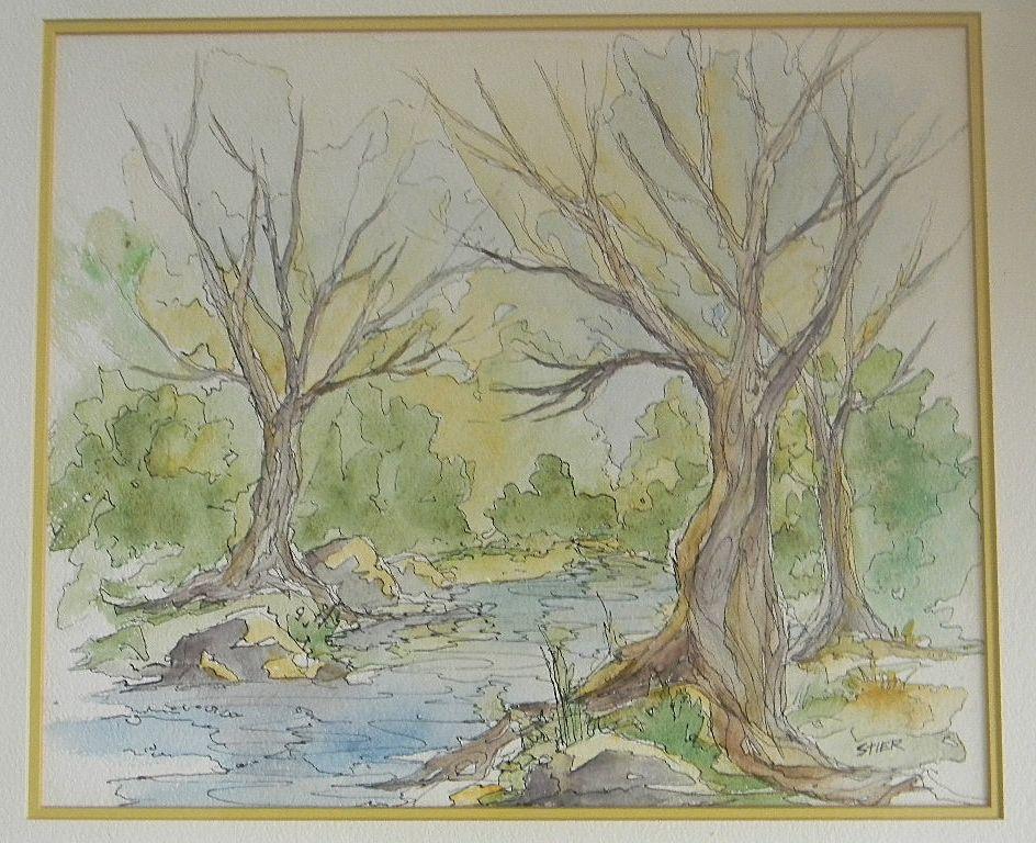 Joan Stier . Watercolor Landscape.