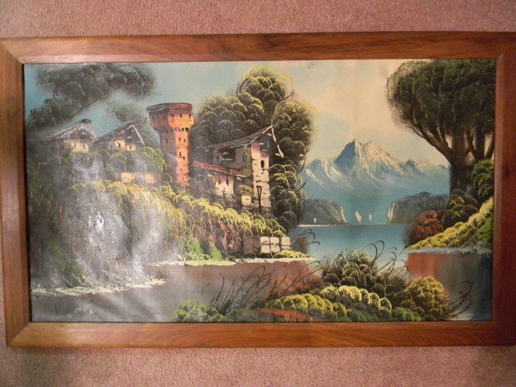 "Vanini .  34"" x 20"" Framed Landscape"
